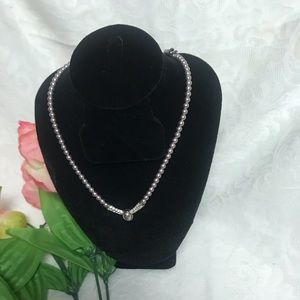 Lavender Faux pearl necklace by Napier